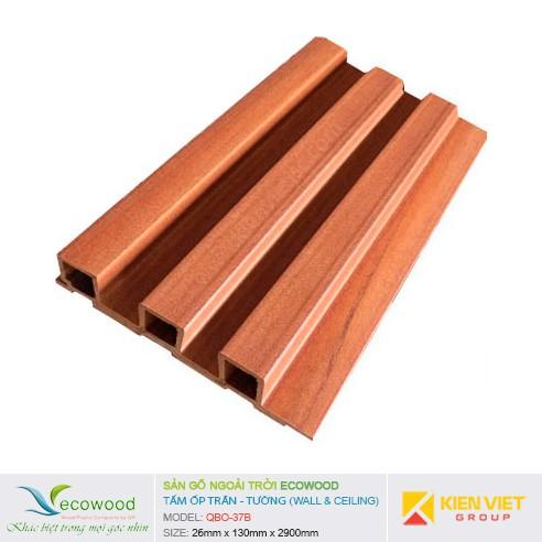 Tấm ốp tường trần EcoWood QBO-37B | 26x130mm