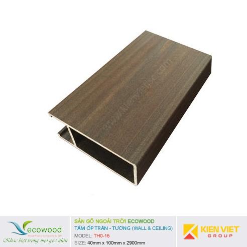 Tấm ốp tường trần EcoWood THO-16 | 40x100mm