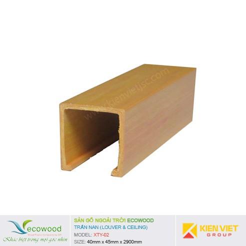 Thanh trần nan Louver EcoWood XTY-02 | 40x45mm