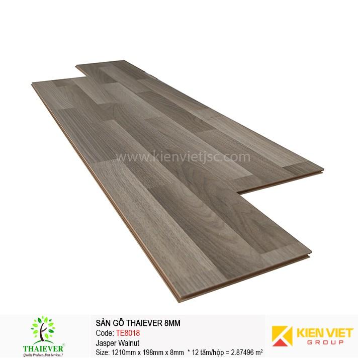 Sàn gỗ công nghiệp Thaiever TE8018 Jasper Walnut | 8mm