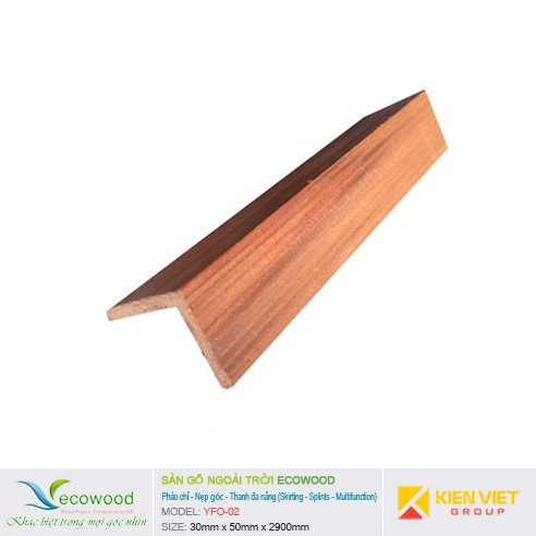 Thanh nẹp góc cạnh EcoWood YFO-02 | 30x50mm