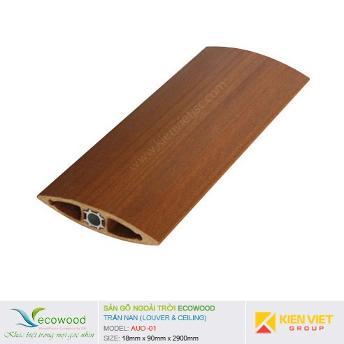 Thanh trần nan Louver EcoWood AUO-01 | 18x90mm