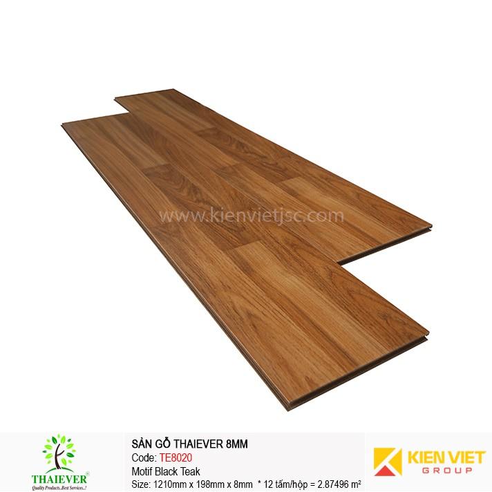 Sàn gỗ công nghiệp Thaiever TE8020 Motif Black Teak | 8mm