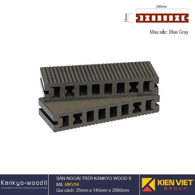 Sàn gỗ ngoài trời Kankyo-wood II | MKV04 Blue Gray