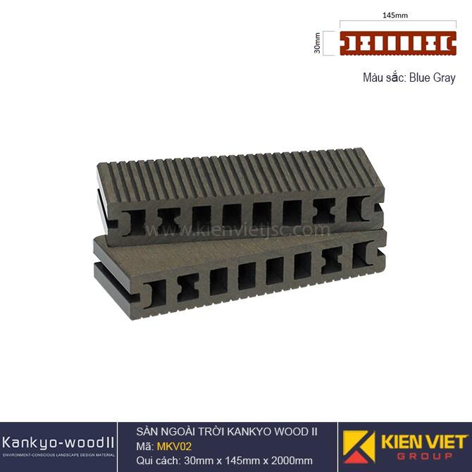 Sàn gỗ ngoài trời Kankyo-wood II | MKV02 Blue Gray
