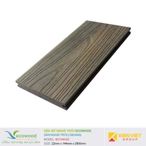 Sàn gỗ ngoài trời EcoWood EC144H22   22x144mm