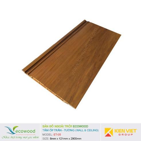 Tấm ốp tường trần EcoWood ET-05 | 8x121mm