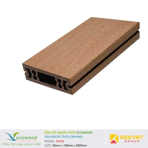Sàn gỗ ngoài trời EcoWood EW-26 | 30x105mm