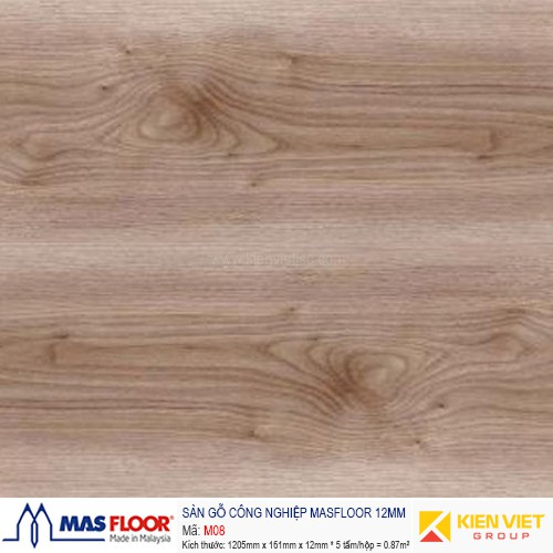 Sàn gỗ MASFLOOR M08 | 12mm