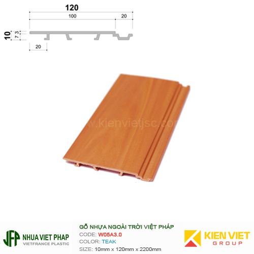 Gỗ nhựa Việt Pháp Ecoplast W05A3.0 | Teak 10x120mm