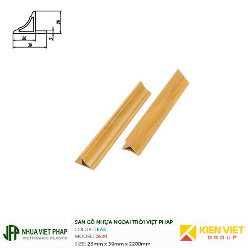 Gỗ nhựa Việt Pháp Ecoplast | Teak 26x39mm