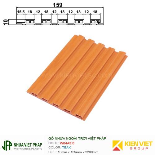 Gỗ nhựa Việt Pháp Ecoplast W04A3.0 | Teak 10x159mm
