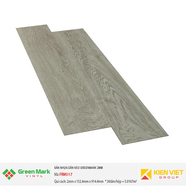 Sàn nhựa dán keo GREENMARK FRM5117   2mm