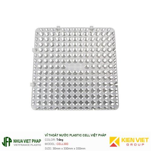 Vỉ thoát nước Plastic Cell Việt Pháp White | 330x330x30mm