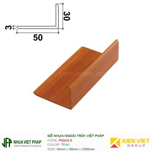 Gỗ nhựa Việt Pháp Ecoplast P02A3.0 | Teak 30x50mm