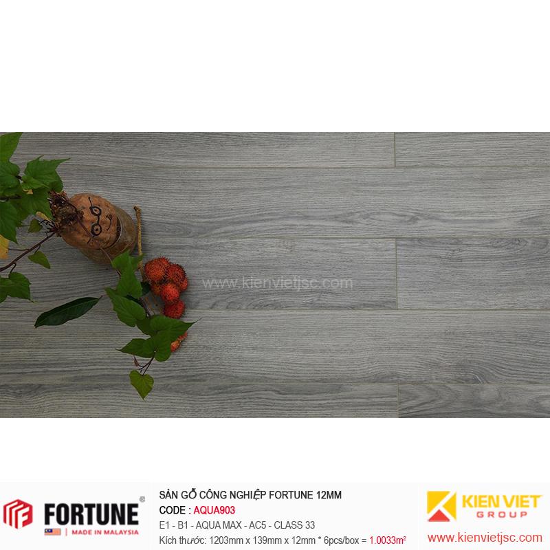 Sàn gỗ công nghiệp Fotune Aqua903 | 12m