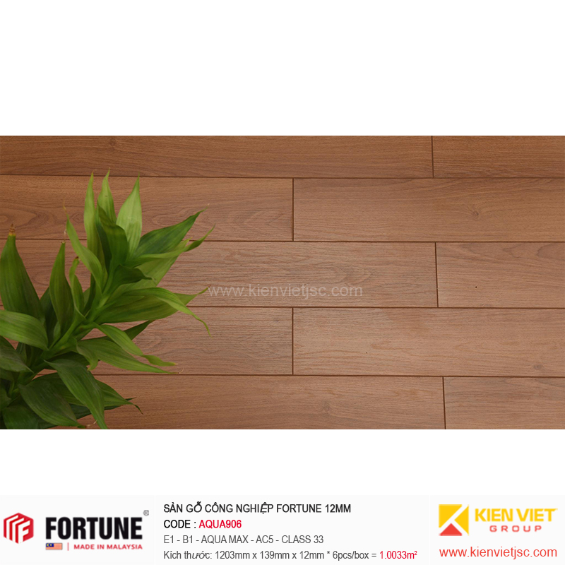 Sàn gỗ công nghiệp Fotune Aqua906 | 12m