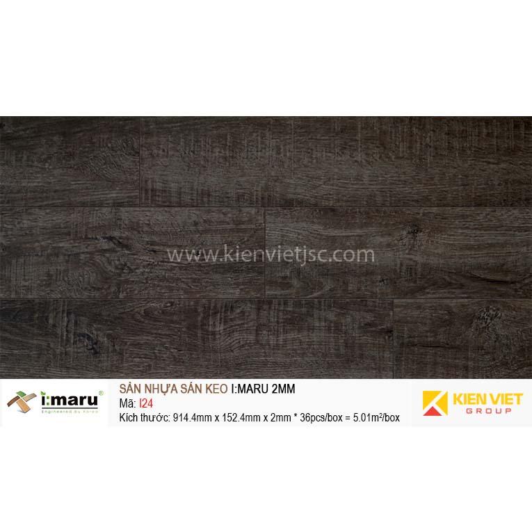 Sàn nhựa dán keo Imaru I24   2mm