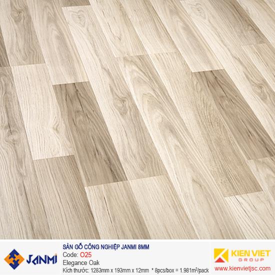 Sàn gỗ Janmi O25 Elegance Oak | 8mm
