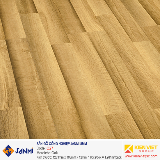 Sàn gỗ Janmi O27 Moreiche Oak | 8mm