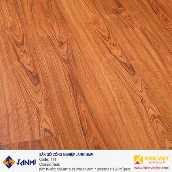 Sàn gỗ Janmi T11 Classic Teak | 8mm