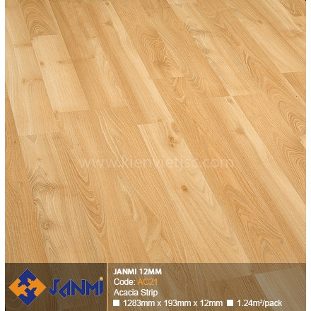Sàn gỗ Janmi AC21 Acacia Strip | 12mm