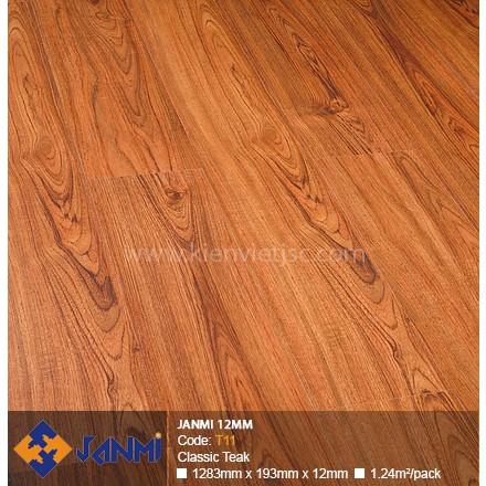 Sàn gỗ Janmi T11 Classic Teak | 12mm