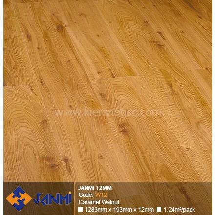 Sàn gỗ Janmi W12 Caramel Walnut | 12mm
