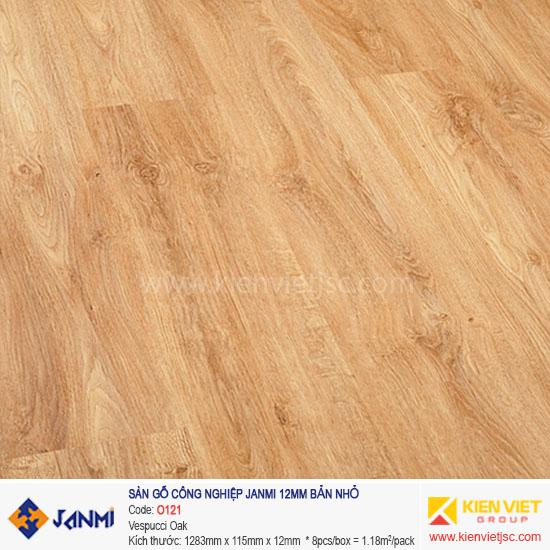Sàn gỗ Janmi O121 Vespucci Oak | 12mm bản nhỏ