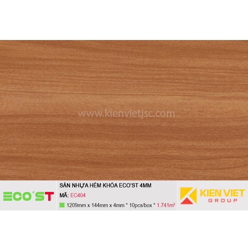 Sàn nhựa hèm khóa Ecost EC404 | 4mm