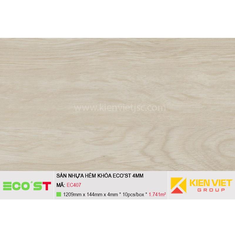 Sàn nhựa hèm khóa Ecost EC407 | 4mm