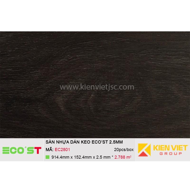 Sàn nhựa dán keo Ecost EC2801 | 2,5mm