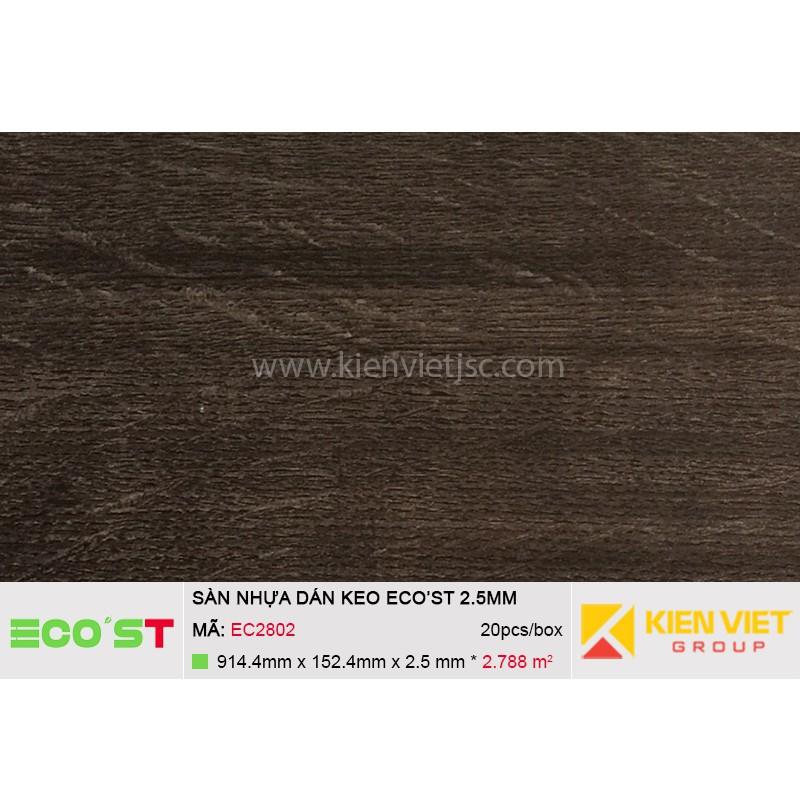 Sàn nhựa dán keo Ecost EC2802 | 2,5mm