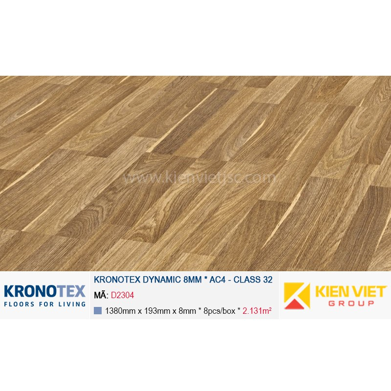 Sàn gỗ Kronotex Dynamic D2304 Achat Oak 8mm