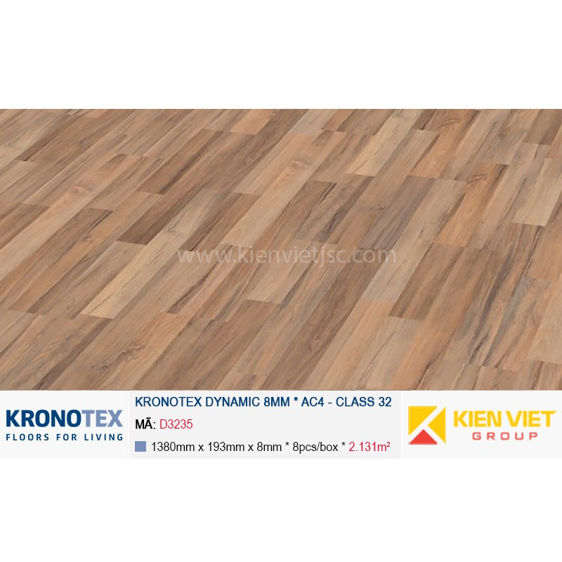 Sàn gỗ Kronotex Dynamic D3235 Laos Teak 8mm
