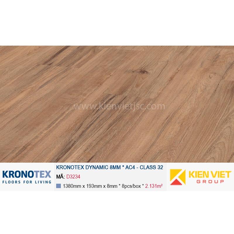 Sàn gỗ Kronotex Dynamic D3234 Teak 8mm