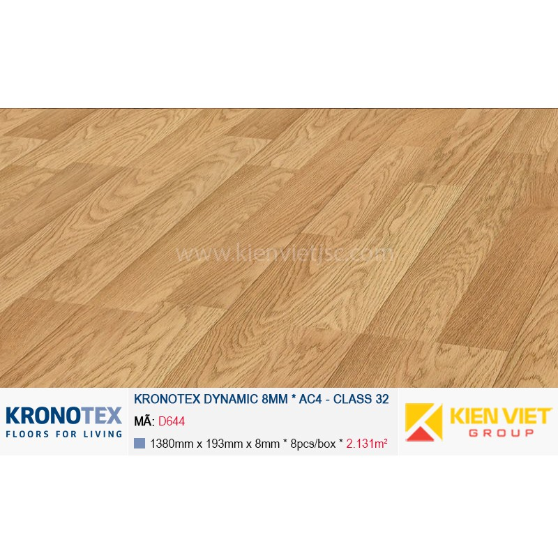 Sàn gỗ Kronotex Dynamic D644 Natural Oak 8mm