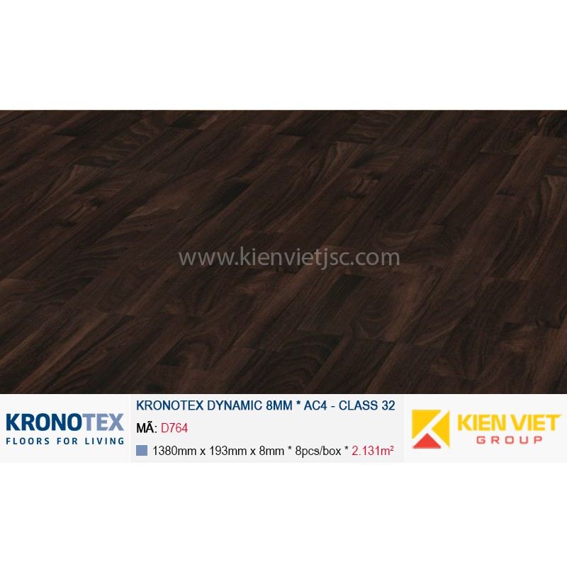 Sàn gỗ Kronotex Dynamic D764 Chestnut | 8mm