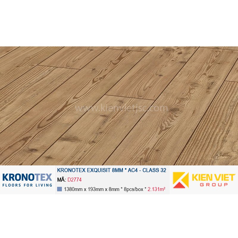Sàn gỗ Kronotex Exquisit D2774 Natural Pine | 8mm