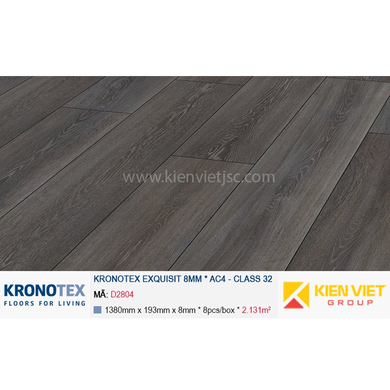 Sàn gỗ Kronotex Exquisit D2804 Stirling Oak | 8mm