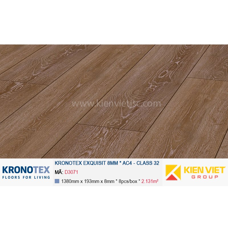Sàn gỗ Kronotex Exquisit D3071 Stirling Oak | 8mm