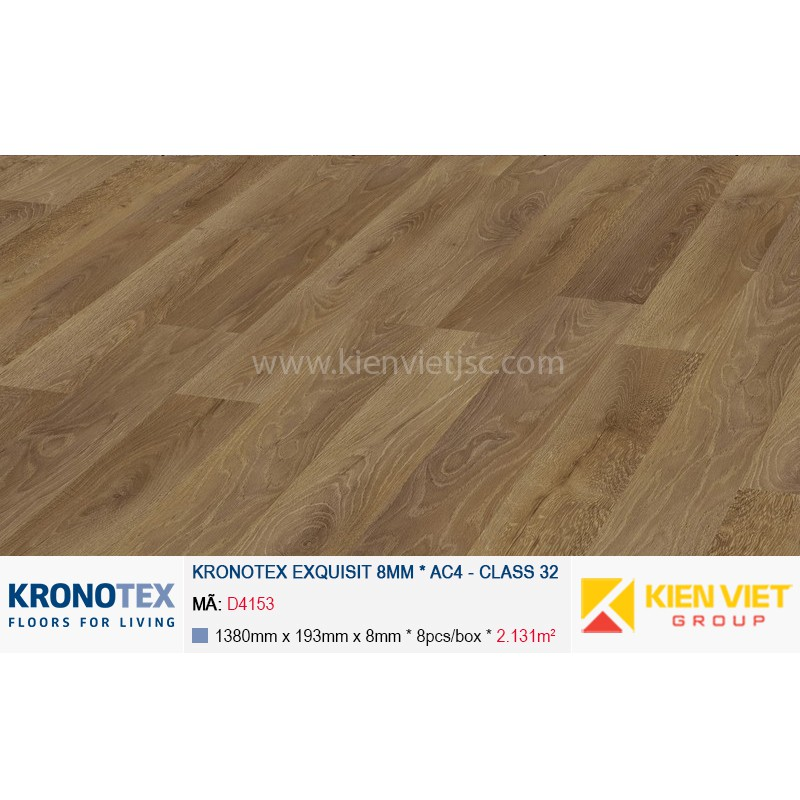 Sàn gỗ Kronotex Exquisit D4153 Luxury Oak | 8mm