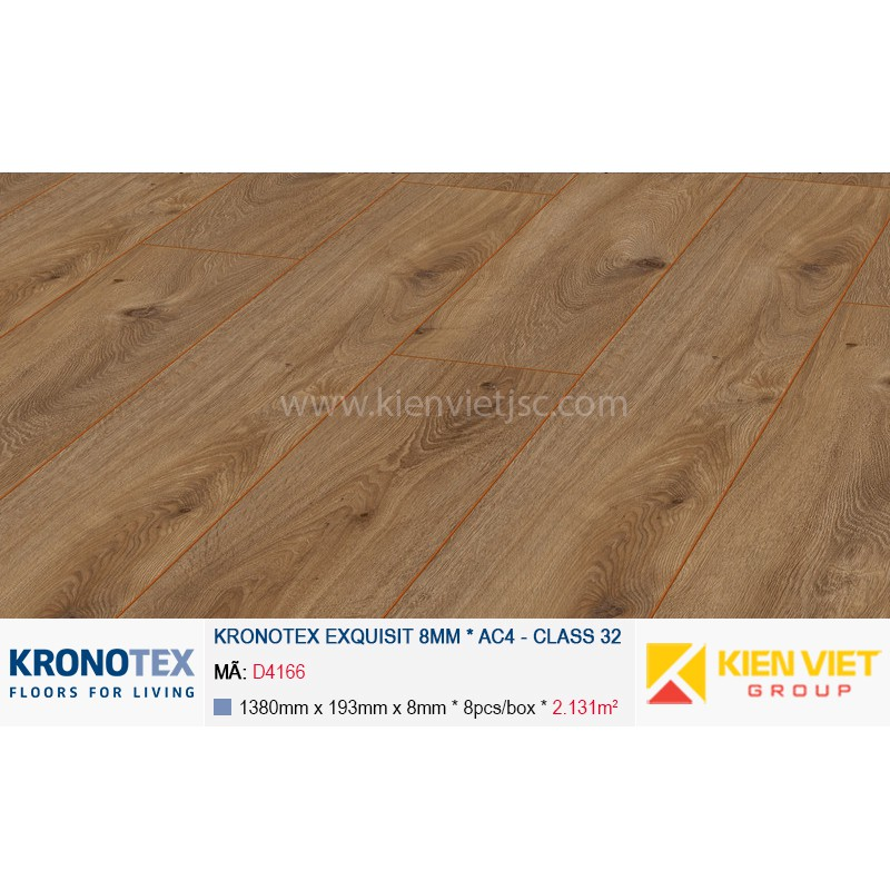 Sàn gỗ Kronotex Exquisit D4166 Prestige Oak Nature | 8mm