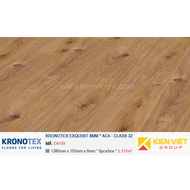 Sàn gỗ Kronotex Exquisit D4169 Prestige Oak Light | 8mm