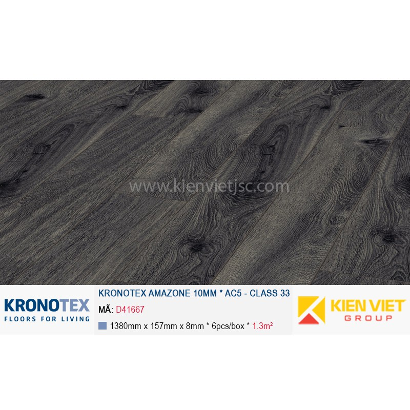 Sàn gỗ Kronotex Amazone D4167 Prestige Oak Grey | 10mm