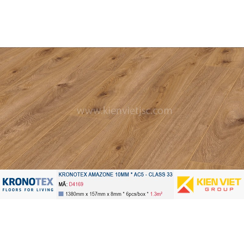 Sàn gỗ Kronotex Amazone D4169 Prestige Oak Light | 10mm