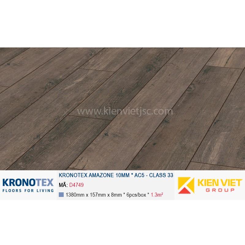 Sàn gỗ Kronotex Amazone D4749 Oak Lava | 10mm