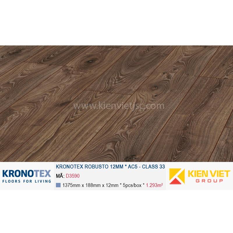 Sàn gỗ Kronotex Robusto D3590 Timeless Oak | 12mm