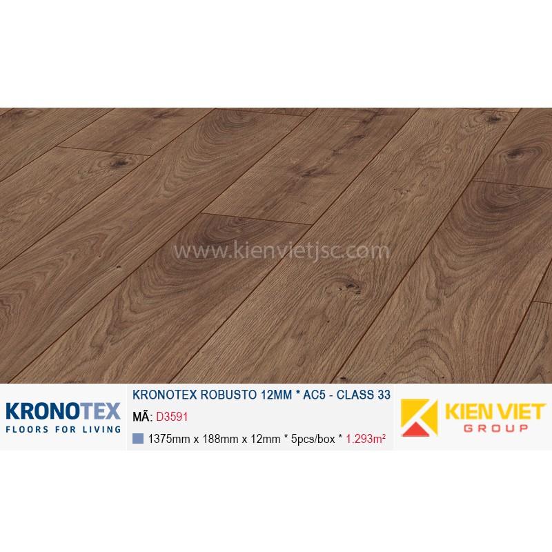 Sàn gỗ Kronotex Robusto D3591 Atlas Oak Coffee | 12mm