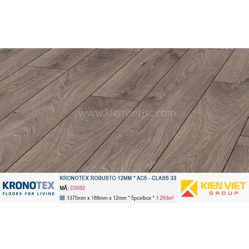 Sàn gỗ Kronotex Robusto D3592 Atlas Oak Anthracite | 12mm